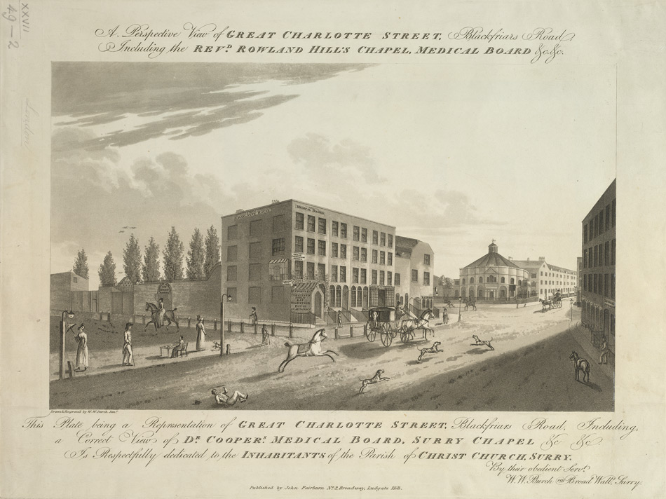 A Perspective View of Great Charlotte Street, Blackfriars Road